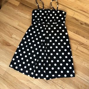 New York & Company Black and white polka dot dress